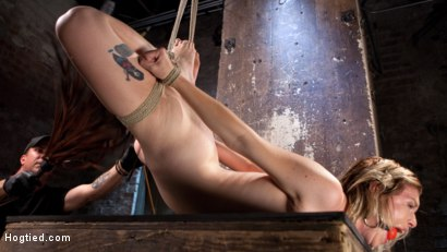 Photo number 5 from Maximum Capacity in Extreme Predicament Bondage shot for Hogtied on Kink.com. Featuring Ella Nova  and The Pope in hardcore BDSM & Fetish porn.