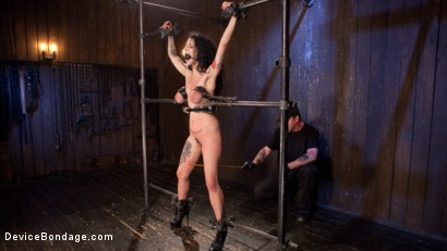 Photo number 11 from S'il Te Plait, Papa shot for Device Bondage on Kink.com. Featuring Arabelle Raphael and The Pope in hardcore BDSM & Fetish porn.