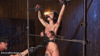 Photo number 12 from S'il Te Plait, Papa shot for Device Bondage on Kink.com. Featuring Arabelle Raphael and The Pope in hardcore BDSM & Fetish porn.
