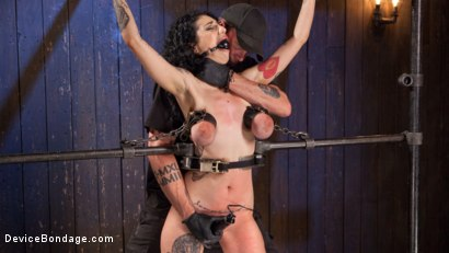 Photo number 15 from S'il Te Plait, Papa shot for Device Bondage on Kink.com. Featuring Arabelle Raphael and The Pope in hardcore BDSM & Fetish porn.