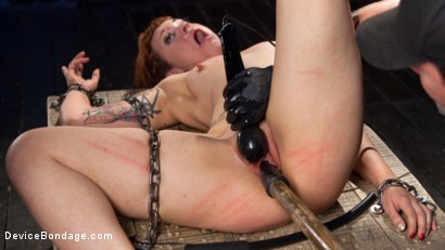 Photo number 12 from Chained Pain Slut shot for Device Bondage on Kink.com. Featuring Elizabeth Thorn and The Pope in hardcore BDSM & Fetish porn.