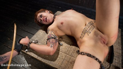 Photo number 13 from Chained Pain Slut shot for Device Bondage on Kink.com. Featuring Elizabeth Thorn and The Pope in hardcore BDSM & Fetish porn.