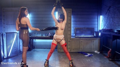 Photo number 3 from New 19-Year-Old Hazed, Tased and Anally Strap-on Fucked! shot for Electro Sluts on Kink.com. Featuring Olivia Fawn and Chanel Preston in hardcore BDSM & Fetish porn.