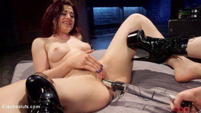 Photo number 10 from Lesbian Porn Crush: Predicament bondage, fisting & anal electrosex!  shot for Electro Sluts on Kink.com. Featuring Ingrid Mouth and Aiden Starr in hardcore BDSM & Fetish porn.