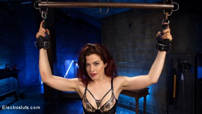 Photo number 3 from Lesbian Porn Crush: Predicament bondage, fisting & anal electrosex!  shot for Electro Sluts on Kink.com. Featuring Ingrid Mouth and Aiden Starr in hardcore BDSM & Fetish porn.
