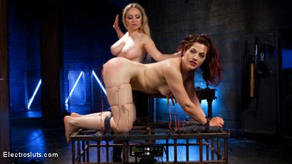 Photo number 5 from Lesbian Porn Crush: Predicament bondage, fisting & anal electrosex!  shot for Electro Sluts on Kink.com. Featuring Ingrid Mouth and Aiden Starr in hardcore BDSM & Fetish porn.