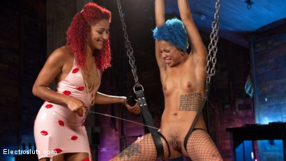 Photo number 2 from Real Life Electro Sex: Daisy Ducati vs. Jessica Creepshow shot for Electro Sluts on Kink.com. Featuring Daisy Ducati and Jessica Creepshow in hardcore BDSM & Fetish porn.