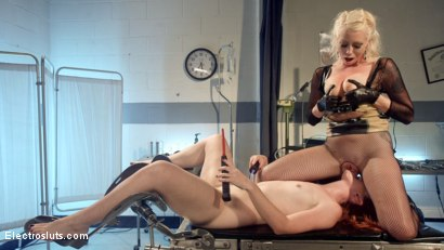 Photo number 14 from Please Shock My Cunt!: A Lesbian Electrosex Nightmare shot for Electro Sluts on Kink.com. Featuring Lorelei Lee and Barbary Rose in hardcore BDSM & Fetish porn.