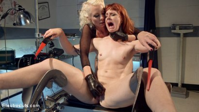 Photo number 15 from Please Shock My Cunt!: A Lesbian Electrosex Nightmare shot for Electro Sluts on Kink.com. Featuring Lorelei Lee and Barbary Rose in hardcore BDSM & Fetish porn.