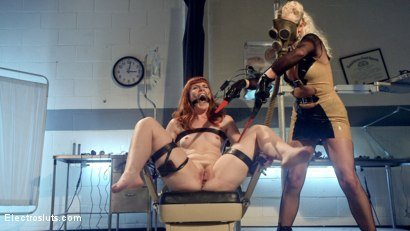 Photo number 2 from Please Shock My Cunt!: A Lesbian Electrosex Nightmare shot for Electro Sluts on Kink.com. Featuring Lorelei Lee and Barbary Rose in hardcore BDSM & Fetish porn.