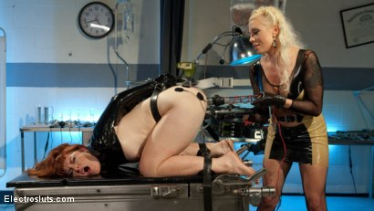 Photo number 12 from Please Shock My Cunt!: A Lesbian Electrosex Nightmare shot for Electro Sluts on Kink.com. Featuring Lorelei Lee and Barbary Rose in hardcore BDSM & Fetish porn.