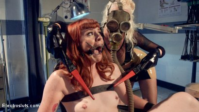 Photo number 1 from Please Shock My Cunt!: A Lesbian Electrosex Nightmare shot for Electro Sluts on Kink.com. Featuring Lorelei Lee and Barbary Rose in hardcore BDSM & Fetish porn.