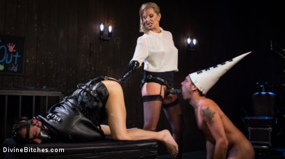 Photo number 6 from Time Out With Maitresse Madeline Marlowe shot for Divine Bitches on Kink.com. Featuring Maitresse Madeline Marlowe , Marcelo and DJ in hardcore BDSM & Fetish porn.