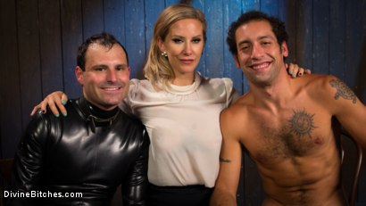 Photo number 8 from Time Out With Maitresse Madeline Marlowe shot for Divine Bitches on Kink.com. Featuring Maitresse Madeline Marlowe , Marcelo and DJ in hardcore BDSM & Fetish porn.