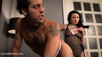 Photo number 2 from Sexy Wife Financially Dominates Her Rich Loser Husband shot for Divine Bitches on Kink.com. Featuring Veruca James and DJ in hardcore BDSM & Fetish porn.