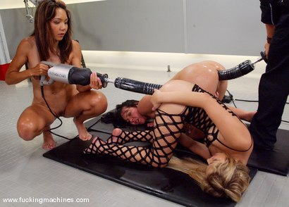 Photo number 8 from The Great Fuck Off Olympics: An All Anal Ass Off shot for Fucking Machines on Kink.com. Featuring Kat, Keeani Lei and Julie Night in hardcore BDSM & Fetish porn.