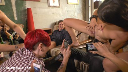 Photo number 17 from Filthy Lullu Gun Gets Fully Naked and Barefoot on Dirty Streets shot for Public Disgrace on Kink.com. Featuring Juliette March, Jason Steel, Lullu Gun  and Steve Holmes in hardcore BDSM & Fetish porn.