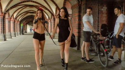 Photo number 20 from Filthy Lullu Gun Gets Fully Naked and Barefoot on Dirty Streets shot for Public Disgrace on Kink.com. Featuring Juliette March, Jason Steel, Lullu Gun  and Steve Holmes in hardcore BDSM & Fetish porn.