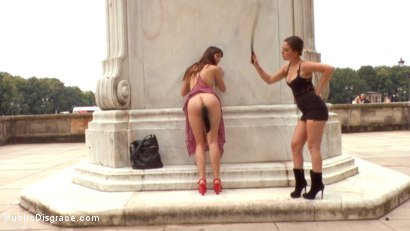 Photo number 9 from Naked Slut Needs Training  shot for Public Disgrace on Kink.com. Featuring Juliette March, Suzan Ayn and Reinhard in hardcore BDSM & Fetish porn.
