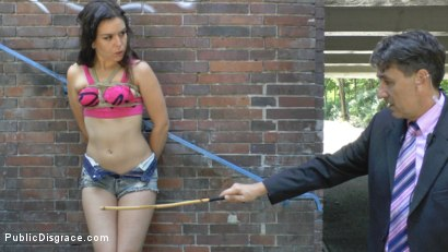 Photo number 6 from Juliette March is FUCKED IN PUBLIC shot for Public Disgrace on Kink.com. Featuring Steve Holmes and Juliette March in hardcore BDSM & Fetish porn.