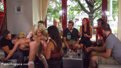 Photo number 7 from Juliette March Disgraces Two Busty Bondage Slut Blondes shot for Public Disgrace on Kink.com. Featuring Juliette March, Jason Steel, Layla Price and Mika Olsson in hardcore BDSM & Fetish porn.