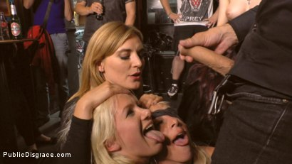 Photo number 20 from Two Busty Bombshell Blondes Disgraced Like Dogs by Mona Wales shot for Public Disgrace on Kink.com. Featuring Mona Wales, Manu Magnum, Layla Price and Steve Holmes in hardcore BDSM & Fetish porn.