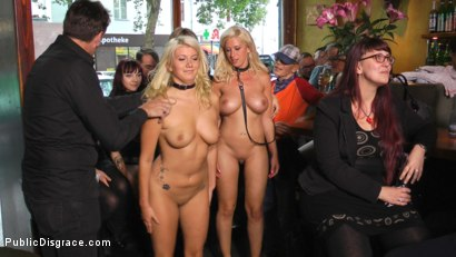 Photo number 11 from Two Busty Bombshell Blondes Disgraced Like Dogs by Mona Wales shot for Public Disgrace on Kink.com. Featuring Mona Wales, Manu Magnum, Layla Price and Steve Holmes in hardcore BDSM & Fetish porn.