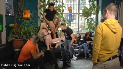 Photo number 12 from Busty Blonde Piece of Filth Begs to be Treated Like Trash shot for Public Disgrace on Kink.com. Featuring Mona Wales, Conny Dachs and Celina Davis in hardcore BDSM & Fetish porn.