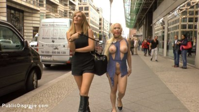 Photo number 5 from Busty Blonde Piece of Filth Begs to be Treated Like Trash shot for Public Disgrace on Kink.com. Featuring Mona Wales, Conny Dachs and Celina Davis in hardcore BDSM & Fetish porn.