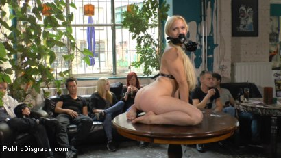 Photo number 9 from Busty Blonde Piece of Filth Begs to be Treated Like Trash shot for Public Disgrace on Kink.com. Featuring Mona Wales, Conny Dachs and Celina Davis in hardcore BDSM & Fetish porn.