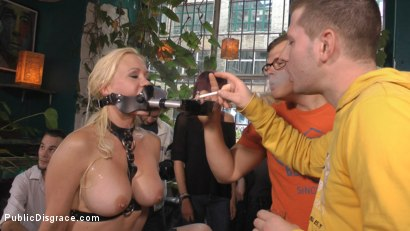 Photo number 17 from Busty Blonde Piece of Filth Begs to be Treated Like Trash shot for Public Disgrace on Kink.com. Featuring Mona Wales, Conny Dachs and Celina Davis in hardcore BDSM & Fetish porn.