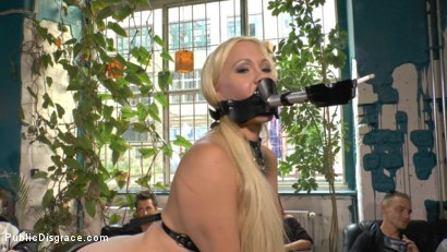 Photo number 18 from Busty Blonde Piece of Filth Begs to be Treated Like Trash shot for Public Disgrace on Kink.com. Featuring Mona Wales, Conny Dachs and Celina Davis in hardcore BDSM & Fetish porn.