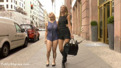 Photo number 3 from Busty Blonde Piece of Filth Begs to be Treated Like Trash shot for Public Disgrace on Kink.com. Featuring Mona Wales, Conny Dachs and Celina Davis in hardcore BDSM & Fetish porn.
