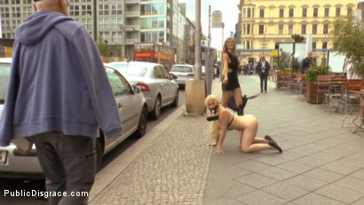 Photo number 8 from Busty Blonde Piece of Filth Begs to be Treated Like Trash shot for Public Disgrace on Kink.com. Featuring Mona Wales, Conny Dachs and Celina Davis in hardcore BDSM & Fetish porn.