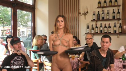 Photo number 13 from Party Girl Gets Pasta with a Side of Balls in her Mouth  shot for Public Disgrace on Kink.com. Featuring Mona Wales, Conny Dachs and Lullu Gun in hardcore BDSM & Fetish porn.