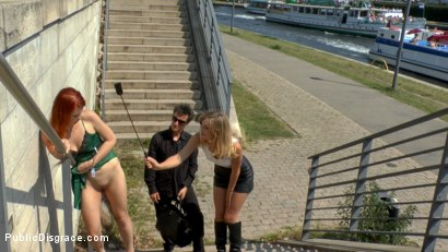 Photo number 1 from Hot Redhead Gets Fisted and Fucked in the Ass on a Crowded Party Boat shot for Public Disgrace on Kink.com. Featuring Mona Wales, Conny Dachs and Isabella Lui in hardcore BDSM & Fetish porn.