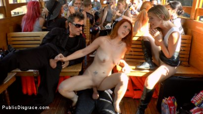 Photo number 15 from Hot Redhead Gets Fisted and Fucked in the Ass on a Crowded Party Boat shot for Public Disgrace on Kink.com. Featuring Mona Wales, Conny Dachs and Isabella Lui in hardcore BDSM & Fetish porn.