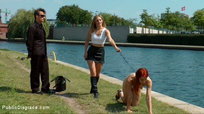 Photo number 3 from Hot Redhead Gets Fisted and Fucked in the Ass on a Crowded Party Boat shot for Public Disgrace on Kink.com. Featuring Mona Wales, Conny Dachs and Isabella Lui in hardcore BDSM & Fetish porn.