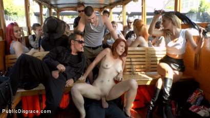 Photo number 17 from Hot Redhead Gets Fisted and Fucked in the Ass on a Crowded Party Boat shot for Public Disgrace on Kink.com. Featuring Mona Wales, Conny Dachs and Isabella Lui in hardcore BDSM & Fetish porn.