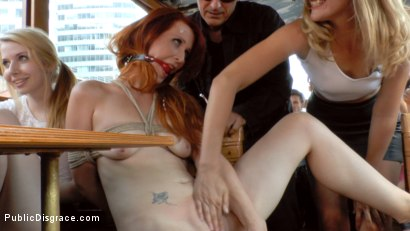 Photo number 9 from Hot Redhead Gets Fisted and Fucked in the Ass on a Crowded Party Boat shot for Public Disgrace on Kink.com. Featuring Mona Wales, Conny Dachs and Isabella Lui in hardcore BDSM & Fetish porn.