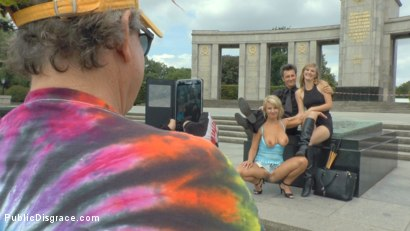 Photo number 1 from Horny Blonde Anal Slut Disgraced for Berlin Tourists shot for Public Disgrace on Kink.com. Featuring Mona Wales, Conny Dachs and Luci Angel in hardcore BDSM & Fetish porn.