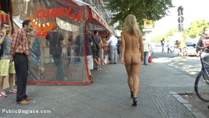Photo number 3 from Horny Blonde Anal Slut Disgraced for Berlin Tourists shot for Public Disgrace on Kink.com. Featuring Mona Wales, Conny Dachs and Luci Angel in hardcore BDSM & Fetish porn.