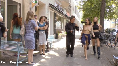 Photo number 3 from Porno Virginty taken with a Public Double Penetration shot for Public Disgrace on Kink.com. Featuring Mona Wales, Conny Dachs and Coco Chanal in hardcore BDSM & Fetish porn.