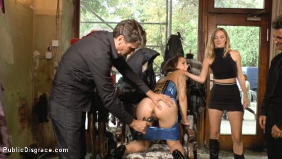 Photo number 6 from Porno Virginty taken with a Public Double Penetration shot for Public Disgrace on Kink.com. Featuring Mona Wales, Conny Dachs and Coco Chanal in hardcore BDSM & Fetish porn.