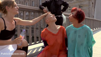 Photo number 2 from Two Berlin Freaks Get an Intense Public Shaming and Fucking shot for Public Disgrace on Kink.com. Featuring Mona Wales, Conny Dachs, Steve Holmes, Mad Kate and Jolyne Joy in hardcore BDSM & Fetish porn.