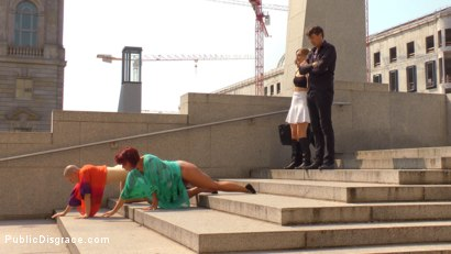 Photo number 3 from Two Berlin Freaks Get an Intense Public Shaming and Fucking shot for Public Disgrace on Kink.com. Featuring Mona Wales, Conny Dachs, Steve Holmes, Mad Kate and Jolyne Joy in hardcore BDSM & Fetish porn.