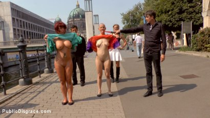Photo number 5 from Two Berlin Freaks Get an Intense Public Shaming and Fucking shot for Public Disgrace on Kink.com. Featuring Mona Wales, Conny Dachs, Steve Holmes, Mad Kate and Jolyne Joy in hardcore BDSM & Fetish porn.
