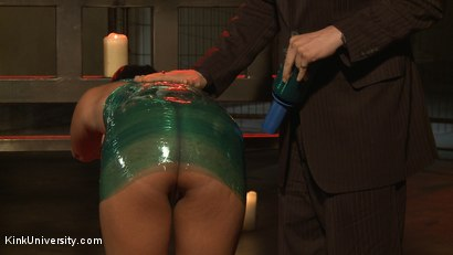 Photo number 15 from Plastic Wrap Suspension shot for Kink University on Kink.com. Featuring London River and Simon Blaise in hardcore BDSM & Fetish porn.
