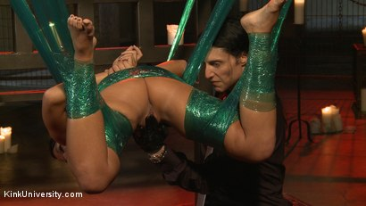 Photo number 24 from Plastic Wrap Suspension shot for Kink University on Kink.com. Featuring London River and Simon Blaise in hardcore BDSM & Fetish porn.
