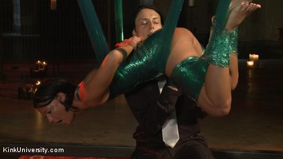 Photo number 25 from Plastic Wrap Suspension shot for Kink University on Kink.com. Featuring London River and Simon Blaise in hardcore BDSM & Fetish porn.